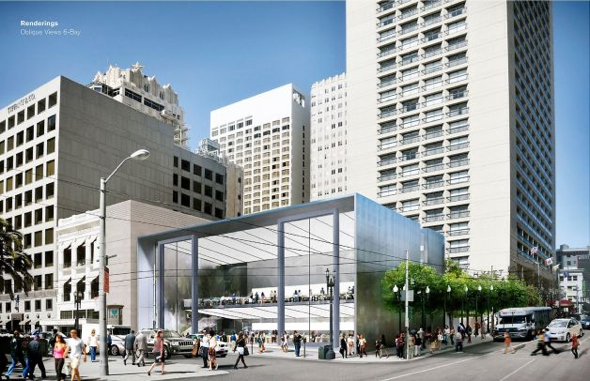Apple Store Union Square in San Francisco, California (Photo: Mlavalle, Foster + Partners)