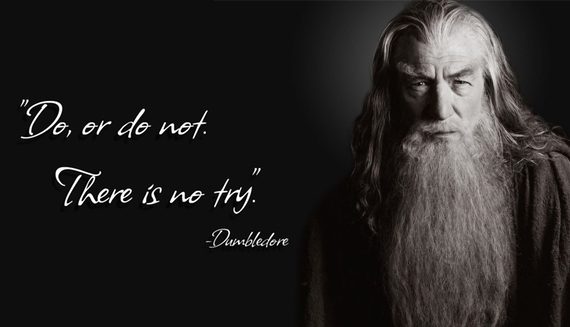Troll Quote: Do or do not. There is no try. - Dumbledore