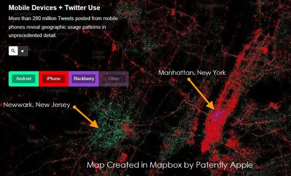 iPhone usage in Manhattan