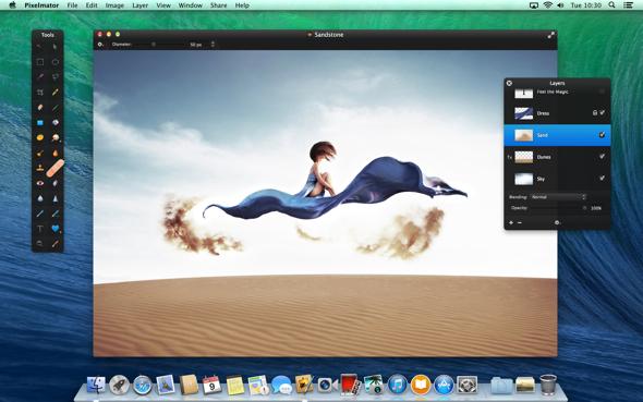 Pixelmator 3.2 Sandstone