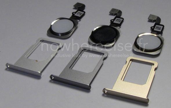 Claimed photo of iPhone 6 SIM trays (via nowhereelse.fr)