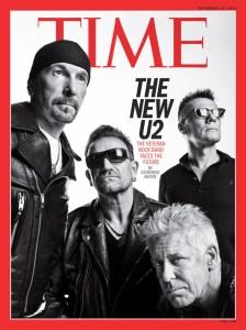 U2 on the cover of TIME's Sept. 29 International edition. (TIME/Sebastian Kim)