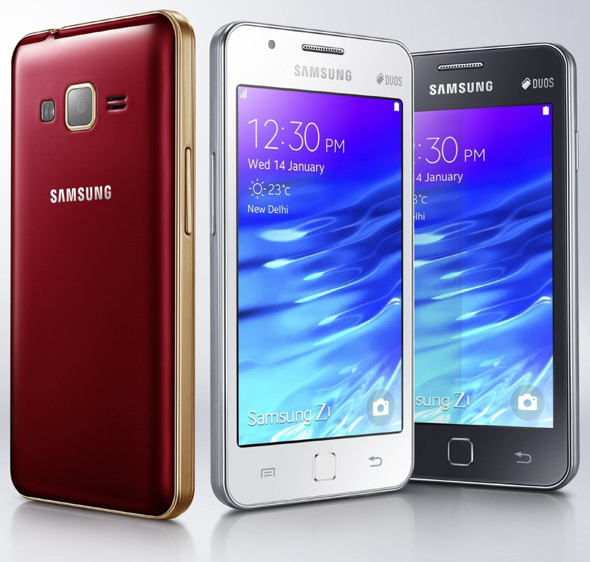 The Samsung Z1, the Tizen-powered smartphone Samsung launched in India on Wednesday