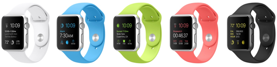 Apple Watch Sport preorder configs in Snow White, Baby Blue, Oh-So-Tender Green,  Puke Salmon, and Black (but not for the Silver AWS)