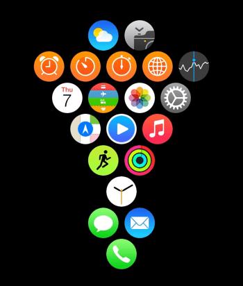 MacDailyNews Reader Ara G.'s Apple Watch Home screen