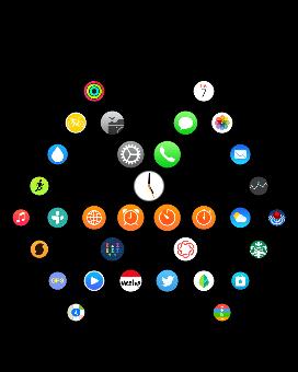 MacDailyNews Reader Iilles T.'s Apple Watch Home screen (2nd version)