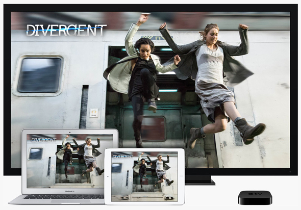 Apple TV, iTunes Store, and iCloud allow content to play anywhere