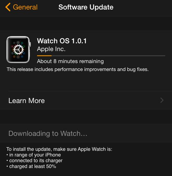 Apple Watch OS update