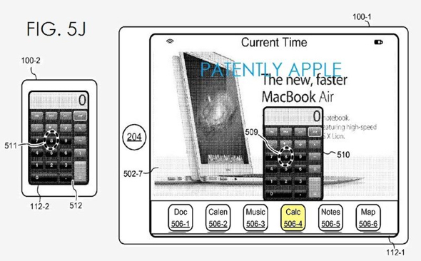 Apple patent application illustration: Pop-up View