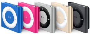 Apple's iPod shuffle in new colors