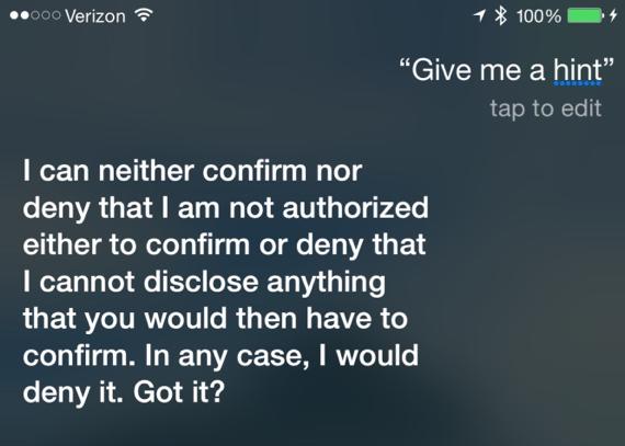 Siri give me  a hint