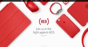 Apple.com promotes (PRODUCT)RED