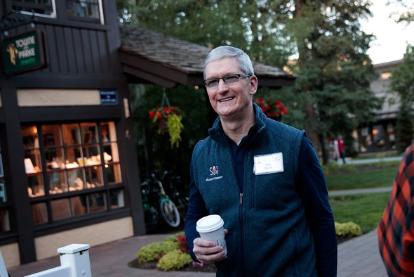 Apple CEO Tim Cook at the Allen & Company Sun Valley Conference in Idaho