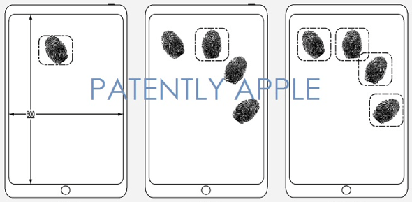 Apple patent describes Touch ID capability embedded in display