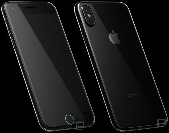 iPhone 8 renders from highly detailed CAD file point to glass back, embedded Home button, wireless charging