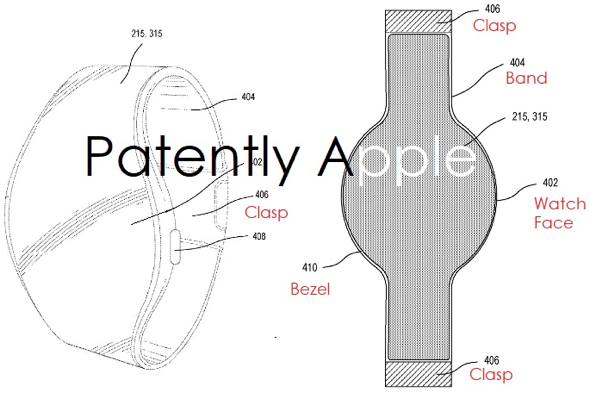 Apple patent application reveals all-new Apple Watch design with wrap-around display and band