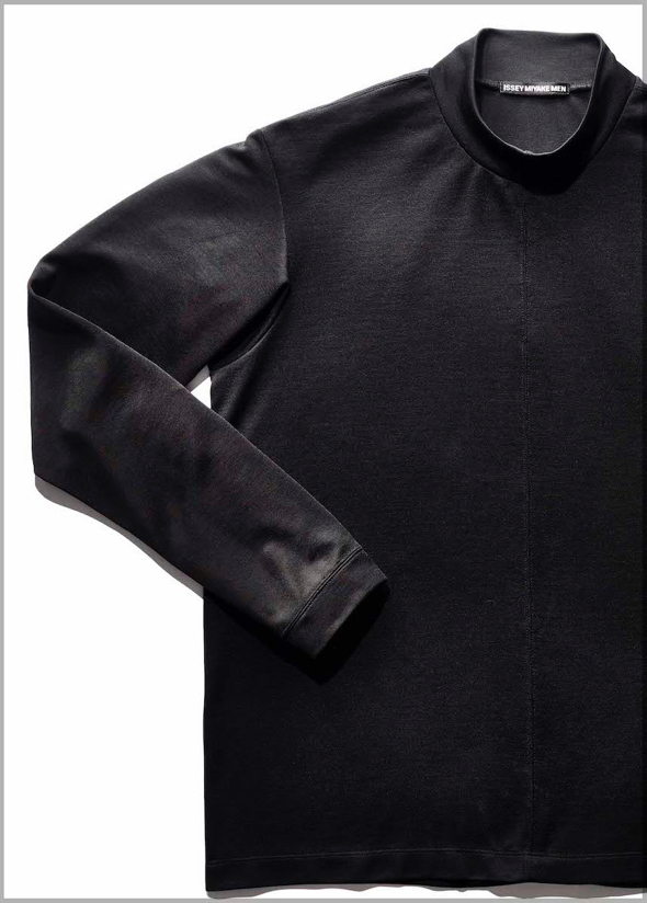 Issey Miyake Inc.'s $270 Semi-Dull T black mock turtleneck