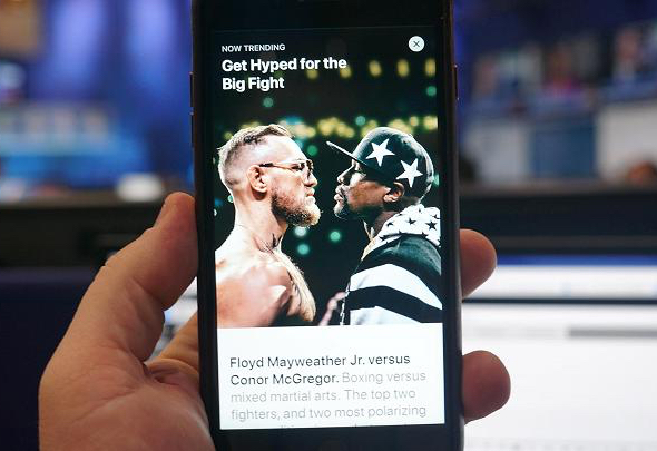 """This story is titled """"Get Ready for the Big Fight"""" (photo: Todd Haselton 