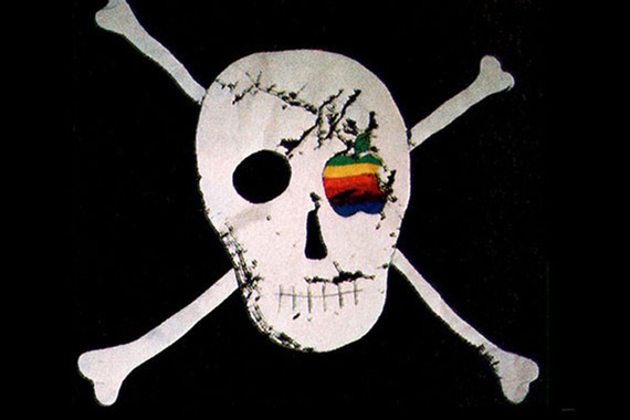 Apple's Macintosh team's pirate flag designed by acclaimed graphic designer Susan Kare