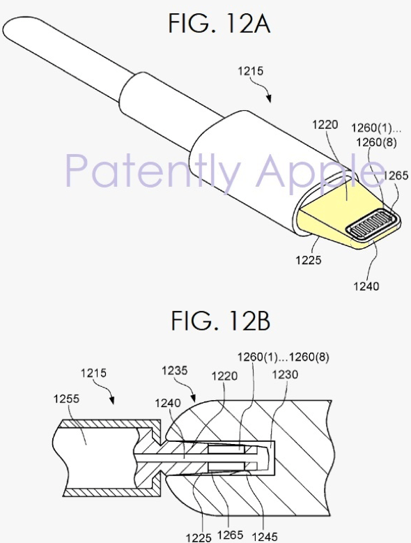Apple patent application reveals new Lightning connector tip that could expand to create a liquid-tight seal