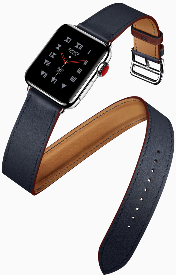 This season's Apple Watch Hermès bands feature an accent color.