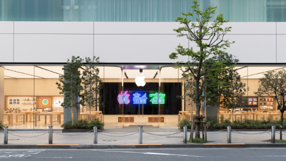 Apple Shinjuku is just blocks from Shinjuku Station in Tokyo's famous shopping, business and entertainment district.