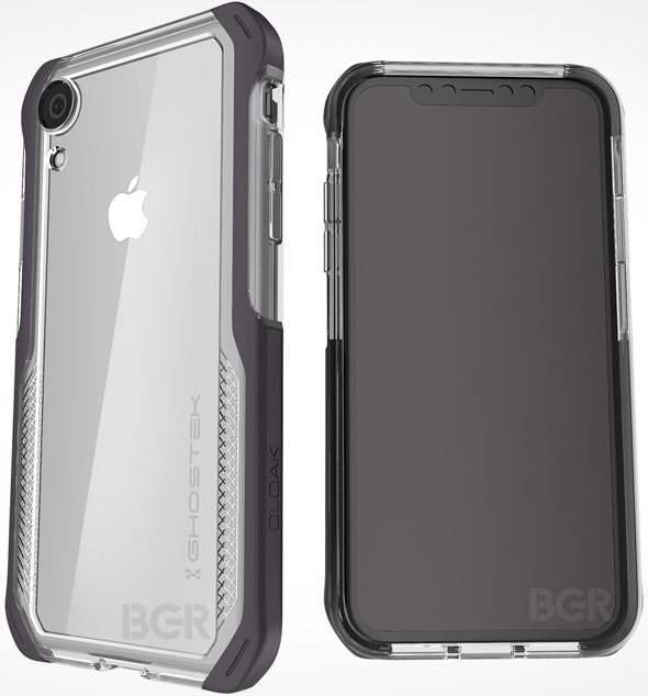 Apple's upcoming 6.1-inch iPhone in a protective case made by third-party case maker Ghostek (image via BGR)