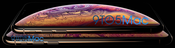 Apple's upcoming 5.8-inch and 6.5-inch 'iPhone XS' (image via 9to5Mac)