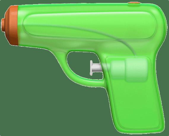 Apple squirt gun emoji