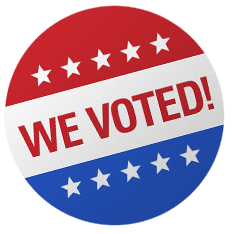 We voted button
