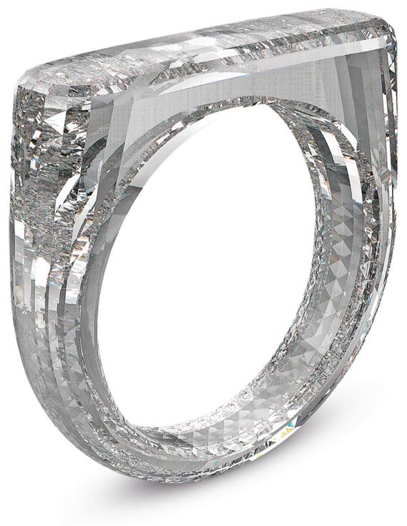 The (Red) Diamond Ring, A Diamond Foundry Created Diamond