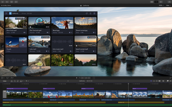 Workflow extensions make it possible to use popular tools and services from developers like Frame.io, Shutterstock and CatDV from right within the Final Cut Pro interface