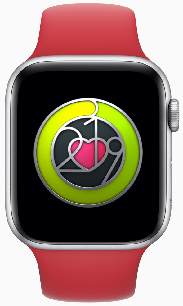 Apple Watch users can earn a special badge for closing their Exercise Ring seven days in a row from February 8-14.
