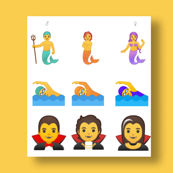 Google gender neutral emoji