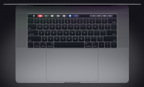 Apple's first 8-core MacBook Pro, the fastest Mac notebook ever, with fourth generation butterfly keyboard