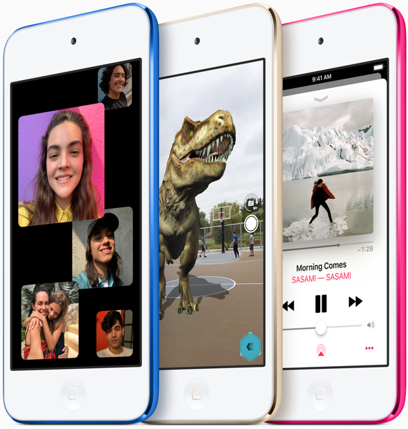 The new iPod touch features Group FaceTime and AR experiences, a first for iPod.