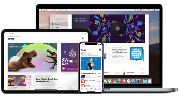 Apple's App Store expands. Image: Apple App Store on Apple devices