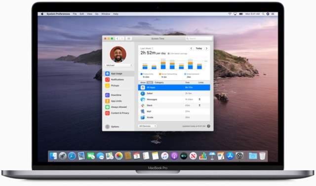 With Screen Time on Mac, users can sync settings and combine usage across their Apple devices.
