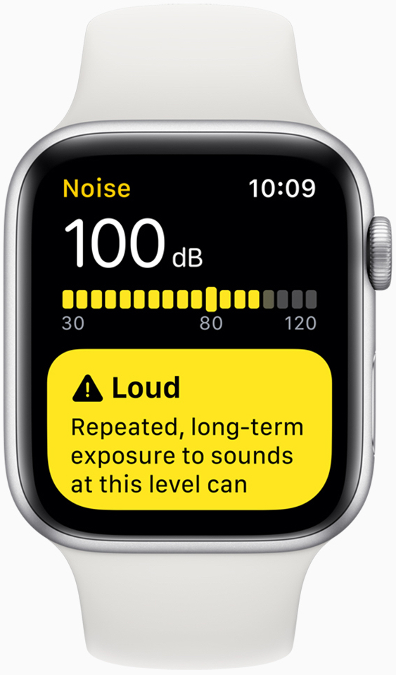 The Noise app helps customers understand the sound levels in loud environments.
