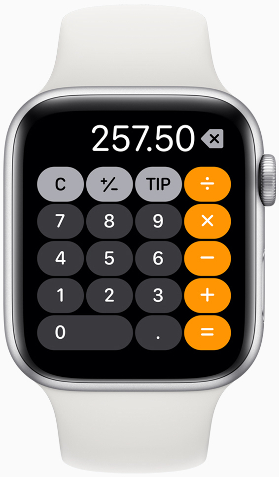 watchOS 6 introduces dynamic new watch faces and direct access to popular apps like Voice Memos, Audiobooks and Calculator.