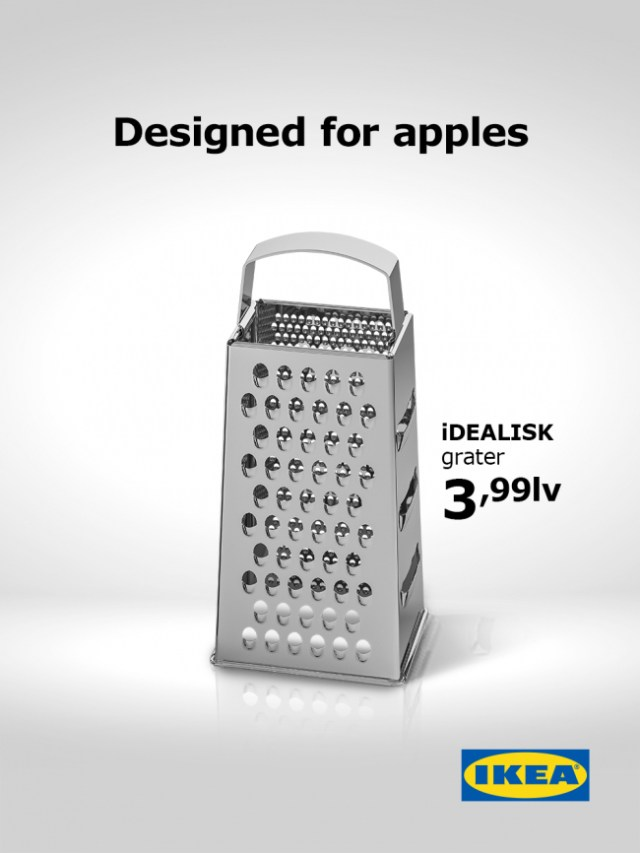 New IKEA grater ad 'Designed for Apples'