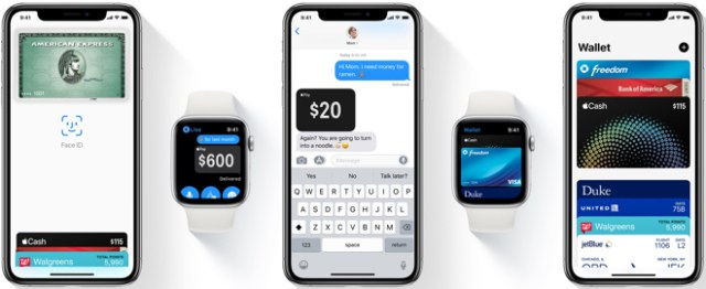 Apple Pay is easy and works with the Apple devices you use every day. You can make secure purchases in stores, in apps, and on the web. And you can send and receive money from friends and family right in Messages. Apple Pay is even simpler than using your physical card, and safer too.