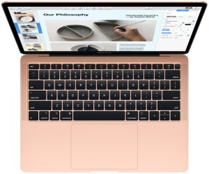 Coronavirus could disrupt Apple MacBook production. Image: the new thinner and lighter MacBook Air