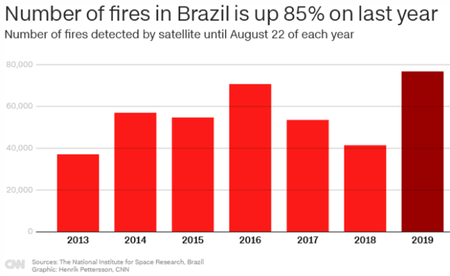 number of fires in brazil 2013-2019