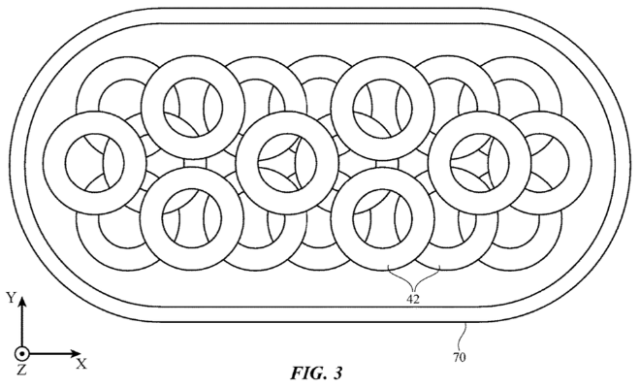 Apple patent application illustration for a charging mat (USPTO)