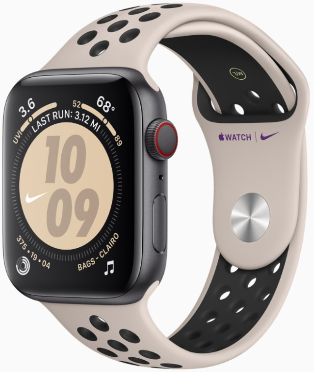Apple Watch Nike features new colors of the Nike Sport Band and reflective Nike Sport Loop.