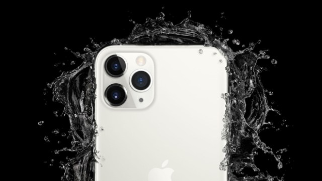 iPhone 11 Pro and iPhone 11 Pro Max feature the toughest glass ever in a smartphone and are rated IP68 for water resistance up to 4 meters for up to 30 minutes, and are protected against everyday spills including coffee and soda.