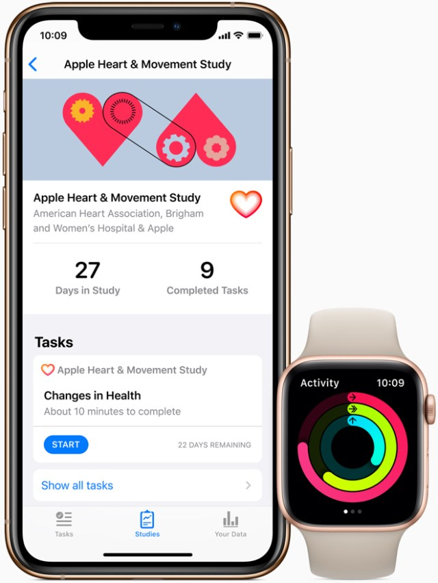 The Apple Heart and Movement Study will broadly study the factors affecting heart health and mobility signals.