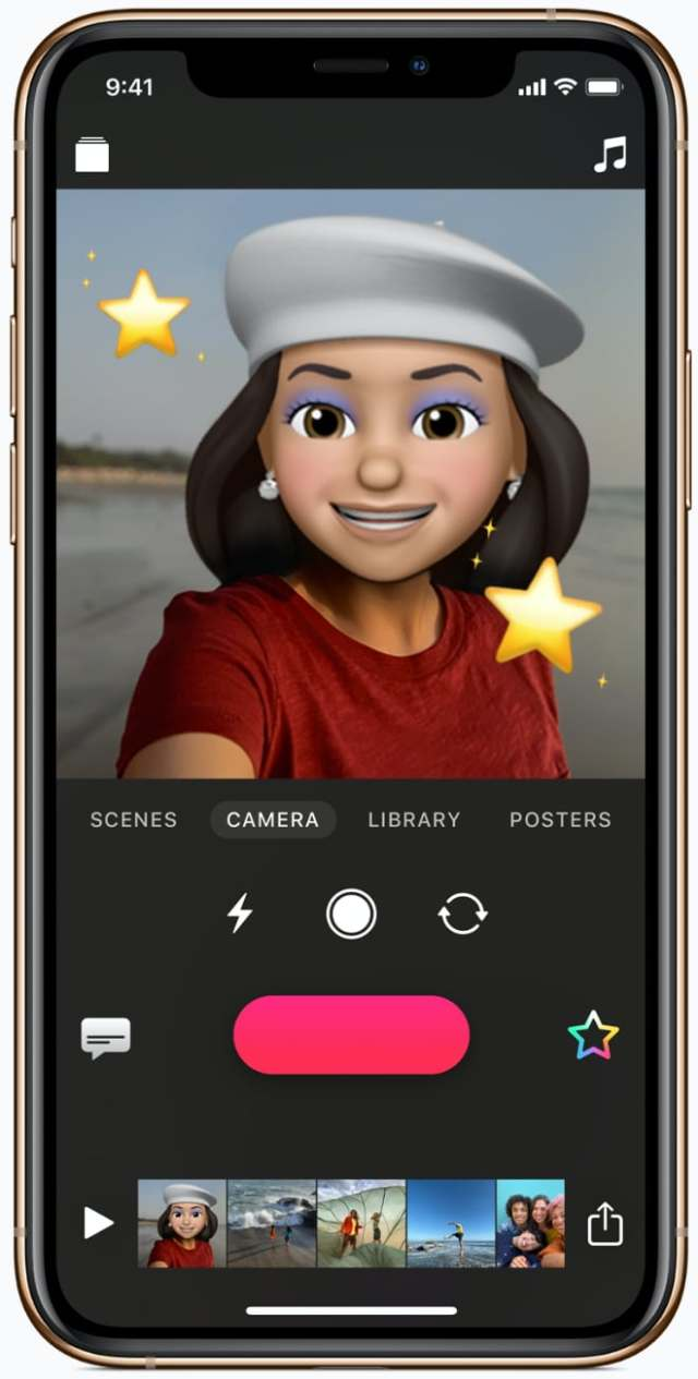 The latest update to the Clips app brings Memoji and Animoji to users.