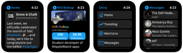 Chirp for Twitter is a the wrist-based Twitter app for Apple Watch